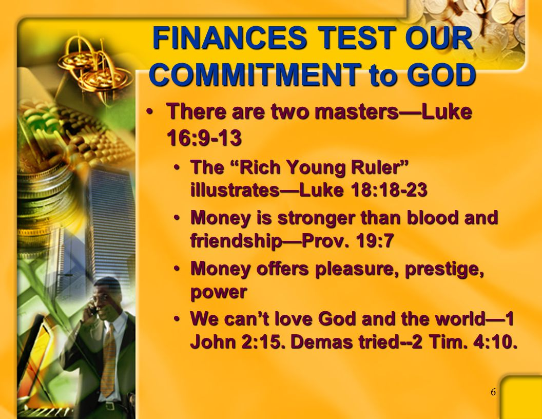 WHAT IS A CHRISTIAN'S FIRST COMMITMENT .  What do we commit to God .