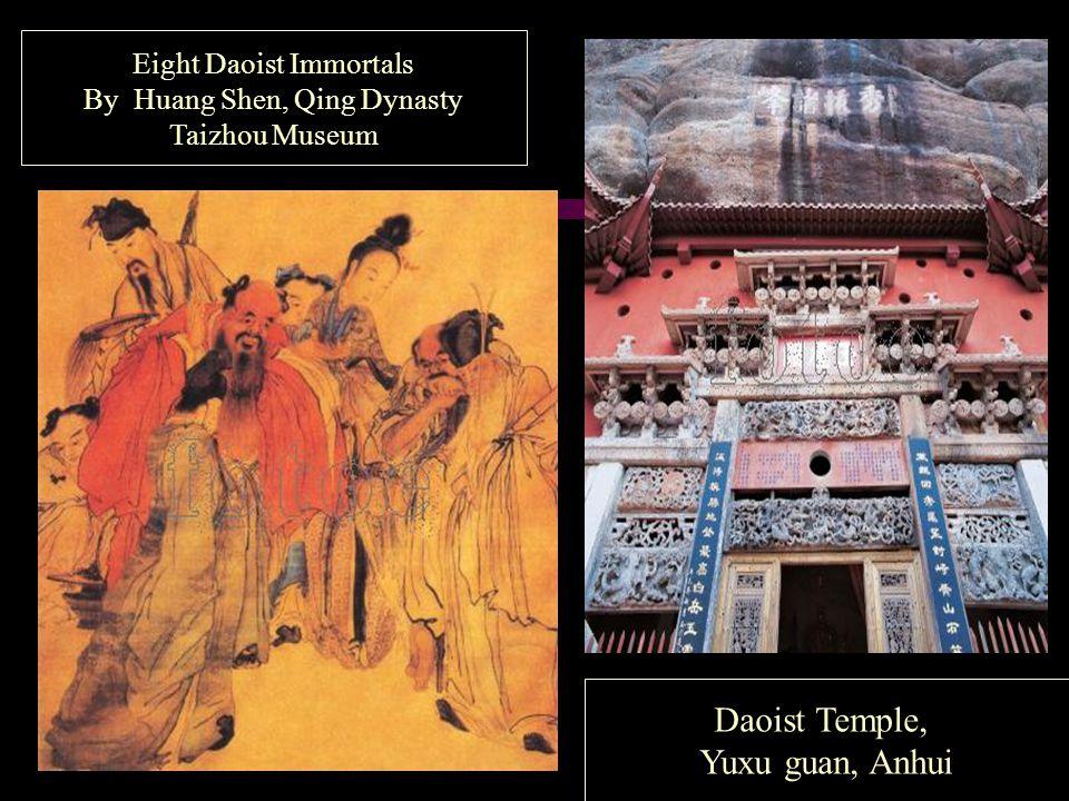 Eight Daoist Immortals By Huang Shen, Qing Dynasty Taizhou Museum Daoist Temple, Yuxu guan, Anhui
