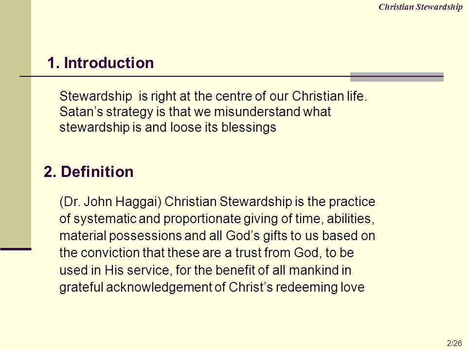 Christian Stewardship 3/26 3.