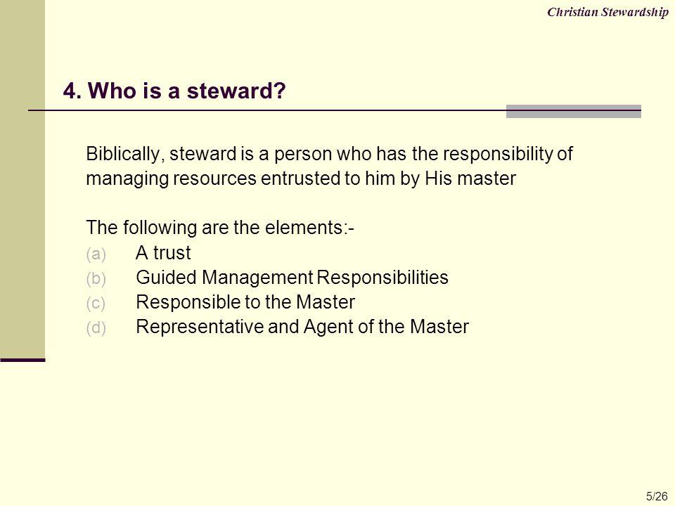 Christian Stewardship 26/26 32.