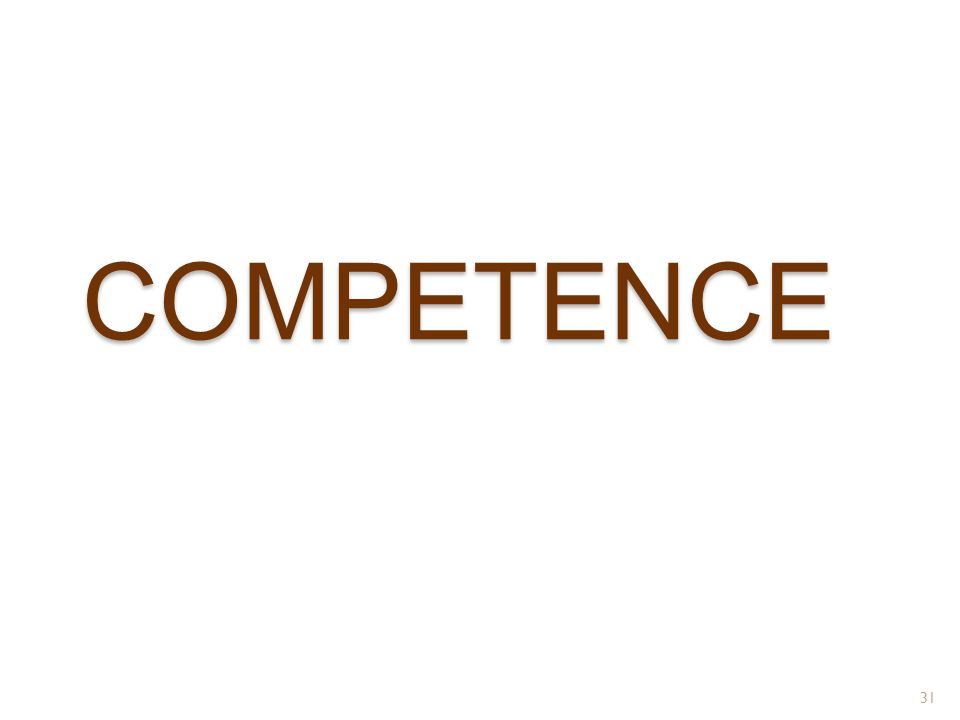COMPETENCE 31