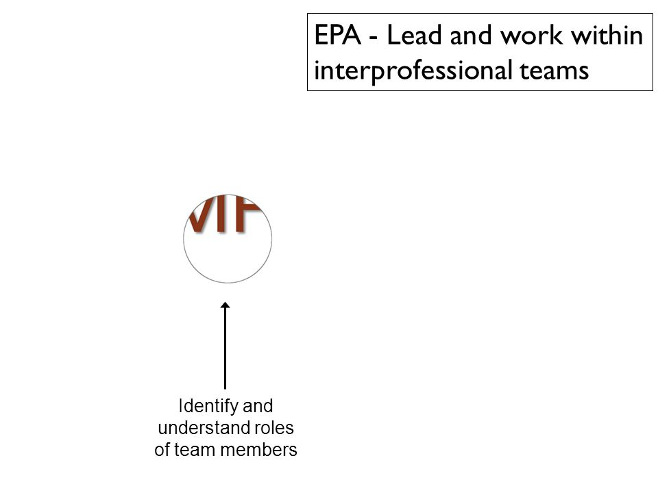 38 Identify and understand roles of team members EPA - Lead and work within interprofessional teams