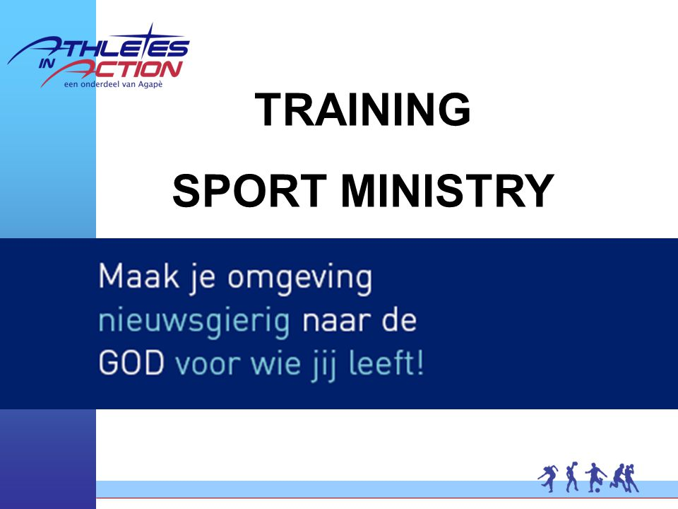 TRAINING SPORT MINISTRY