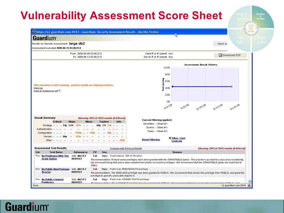 Vulnerability Assessment Score Sheet
