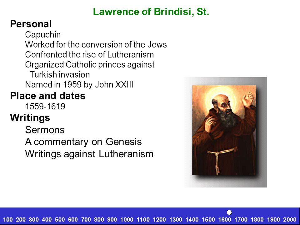 Lawrence of Brindisi, St.