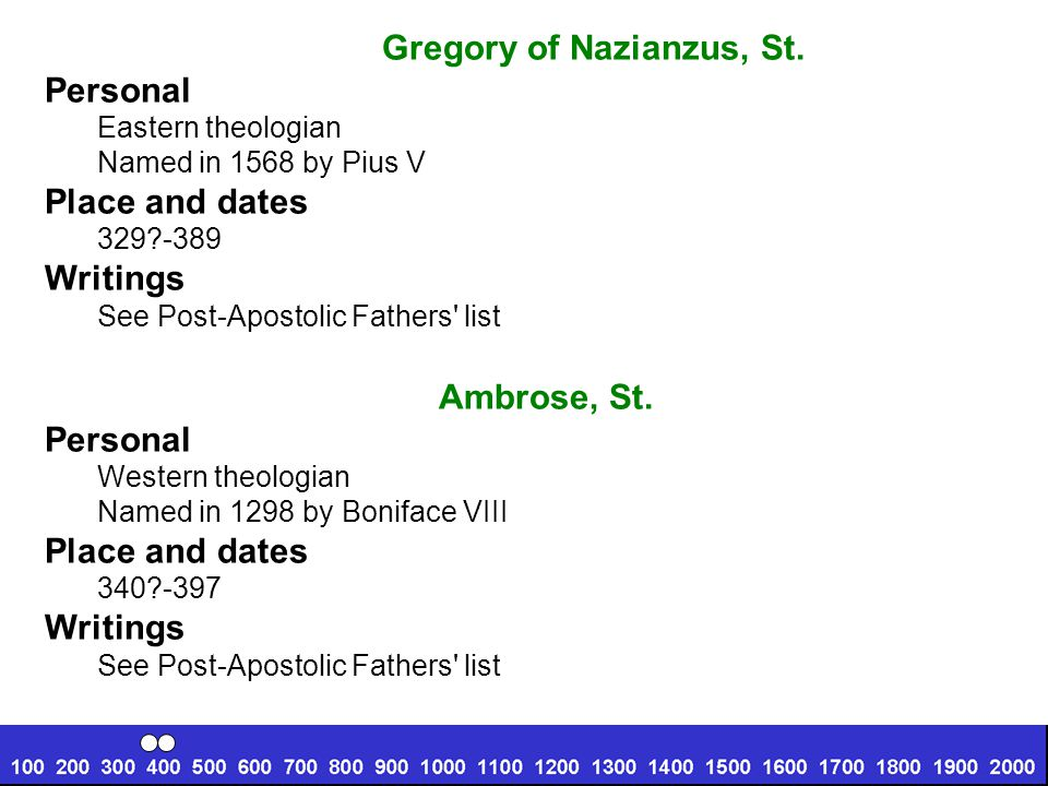 Gregory of Nazianzus, St.