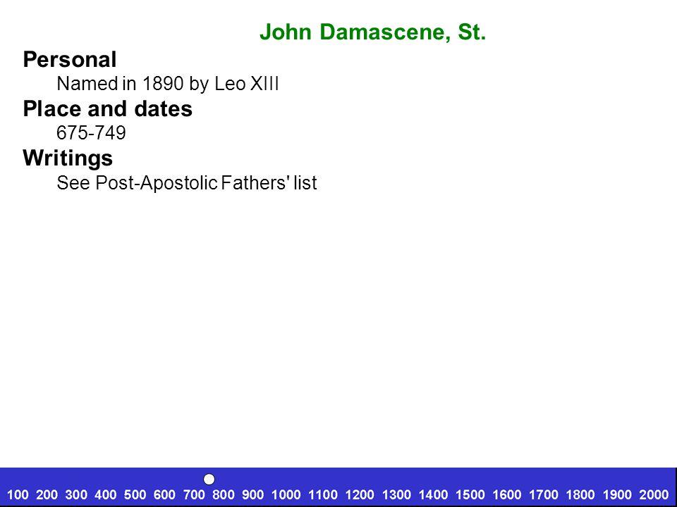 Peter Damien, St.