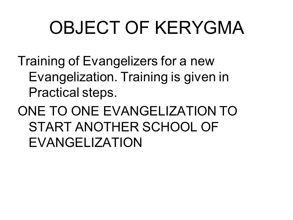 NEW EVANGELIZATION (SVD Charism) Thus to create a Kingdom of Love what was in the plan of Jesus Christ.