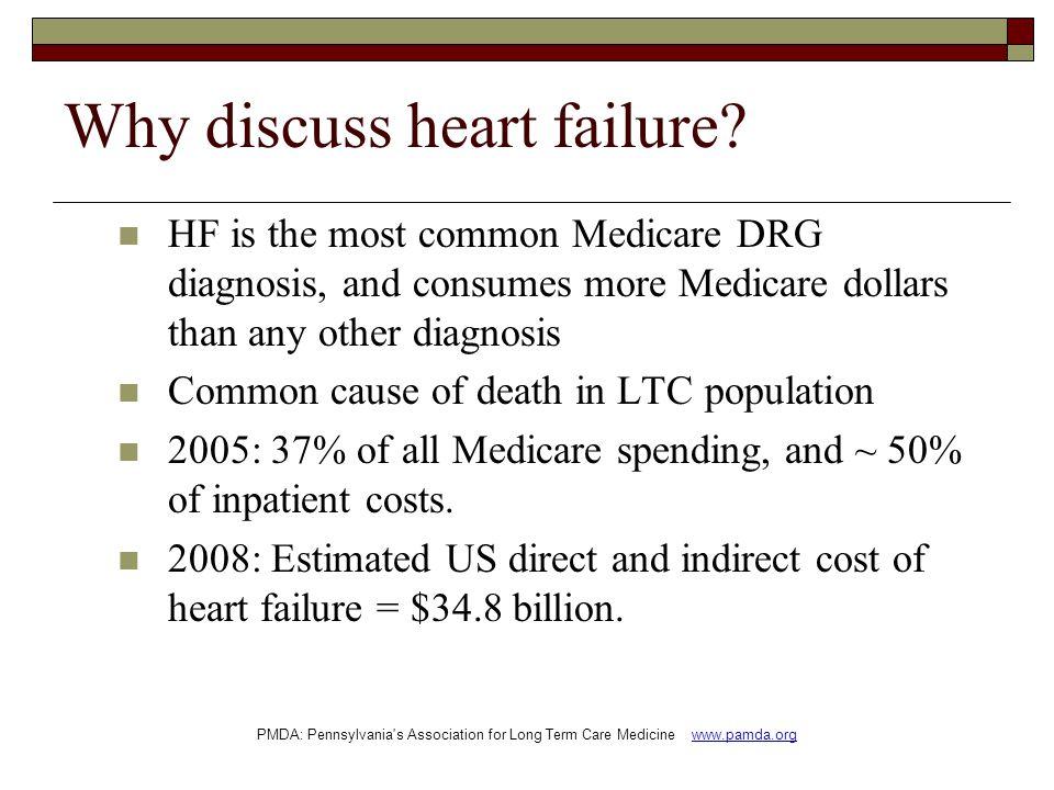Why discuss heart failure.