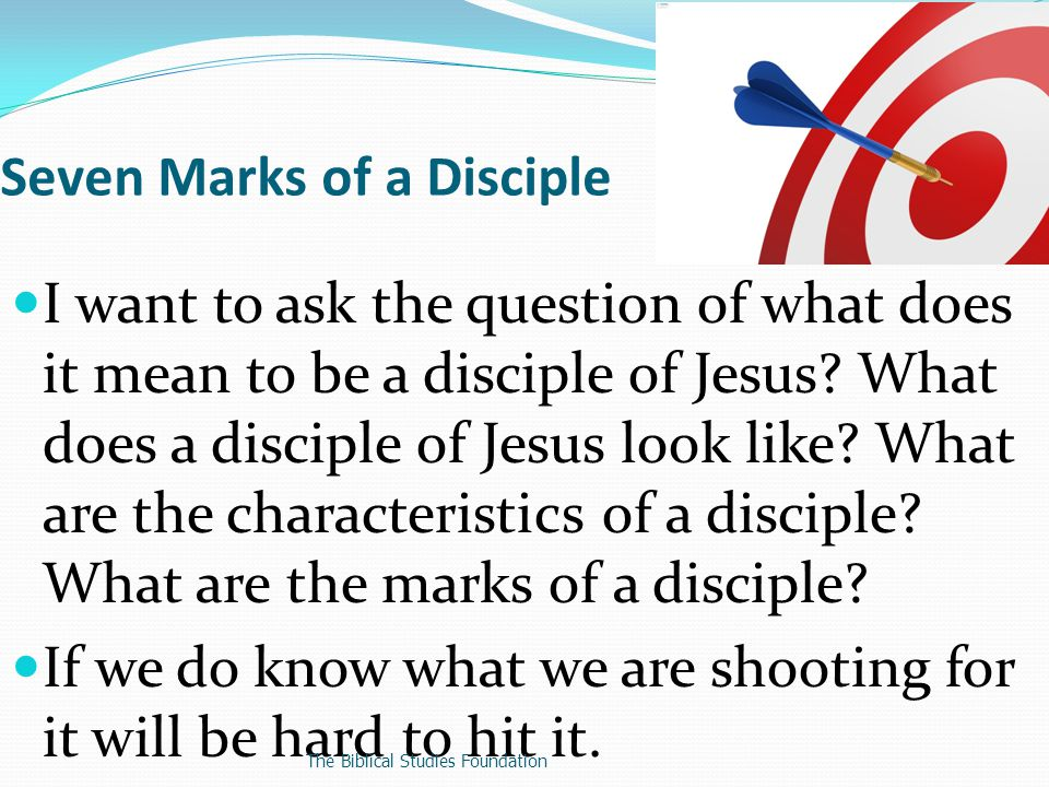 I want to ask the question of what does it mean to be a disciple of Jesus.
