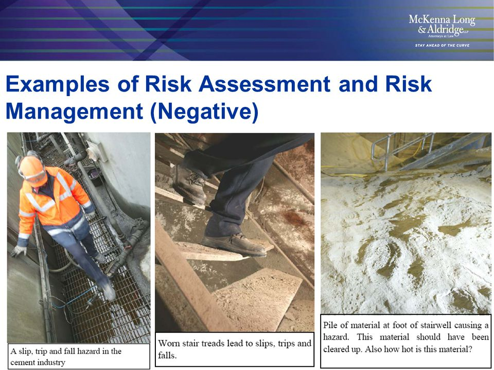 6 Examples of Risk Assessment and Risk Management (Positive) Cables routed under the walkway Cables routed under the walkway