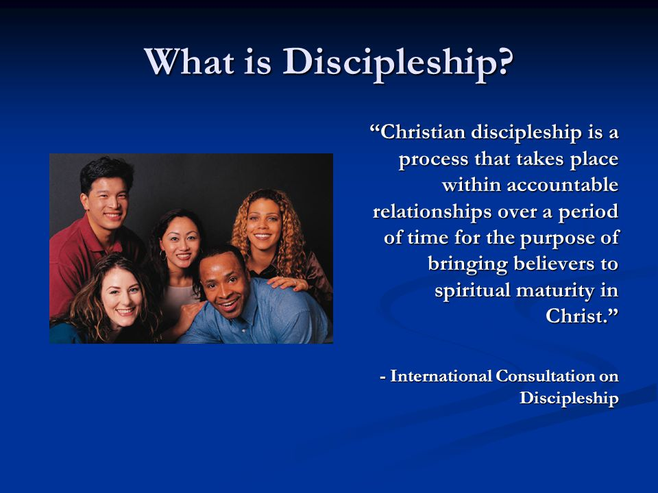 Discipleship Training Possible Weaknesses of Discipleship Training: Readings are long, sometimes difficult.