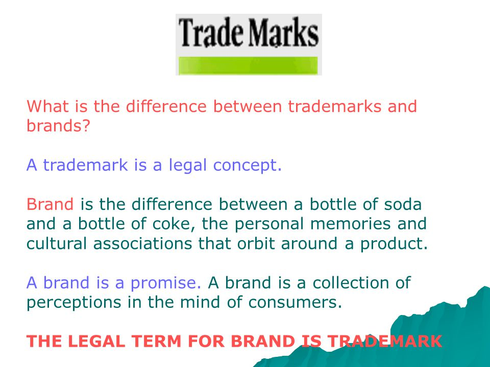 . A Trade Mark which is registered gives the right to use the ® symbol and a much greater degree of certainty. A registered Trade Mark gives the owner