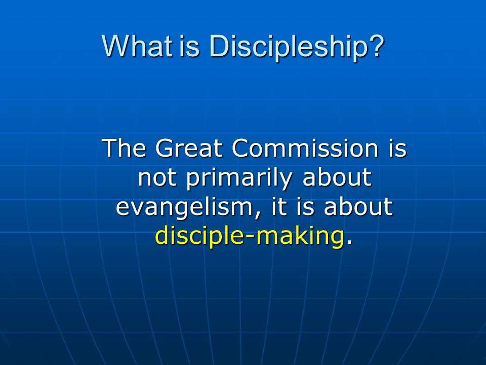 Discipleship Training Comments promotes/develops biblical habits (disciplines) Has been very practical Has offered accountability Includes support and caring Being able to download lessons online has been helpful