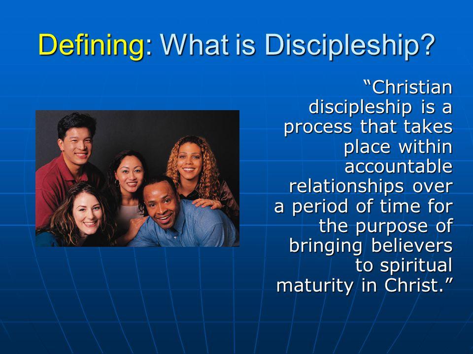 Why Discipleship.