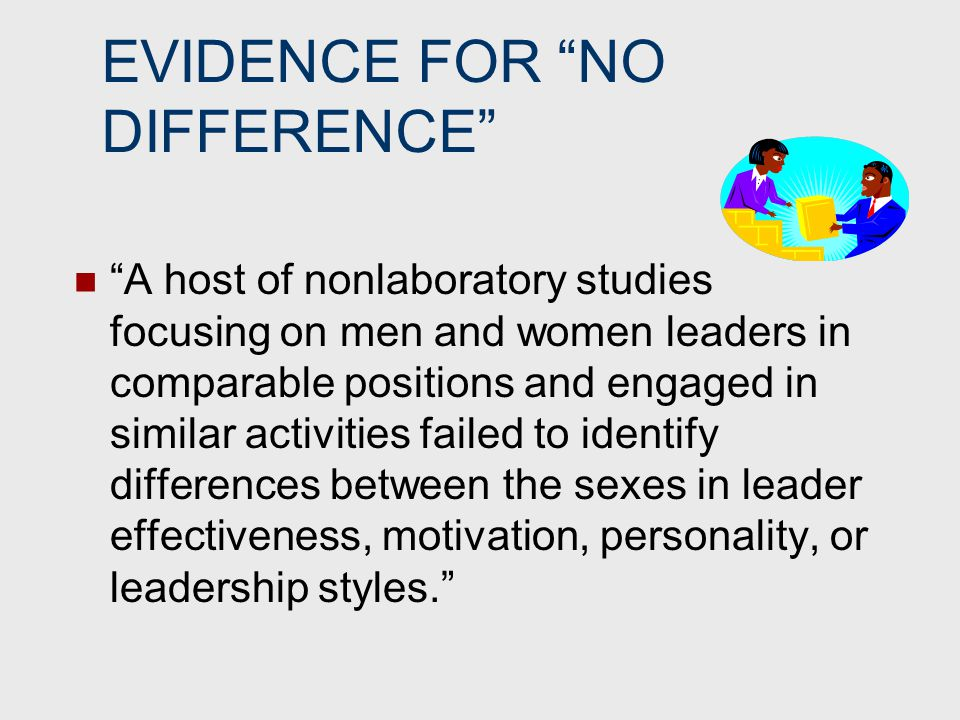 Once given a leadership role and legitimized by their organization, women and men do not act very differently.