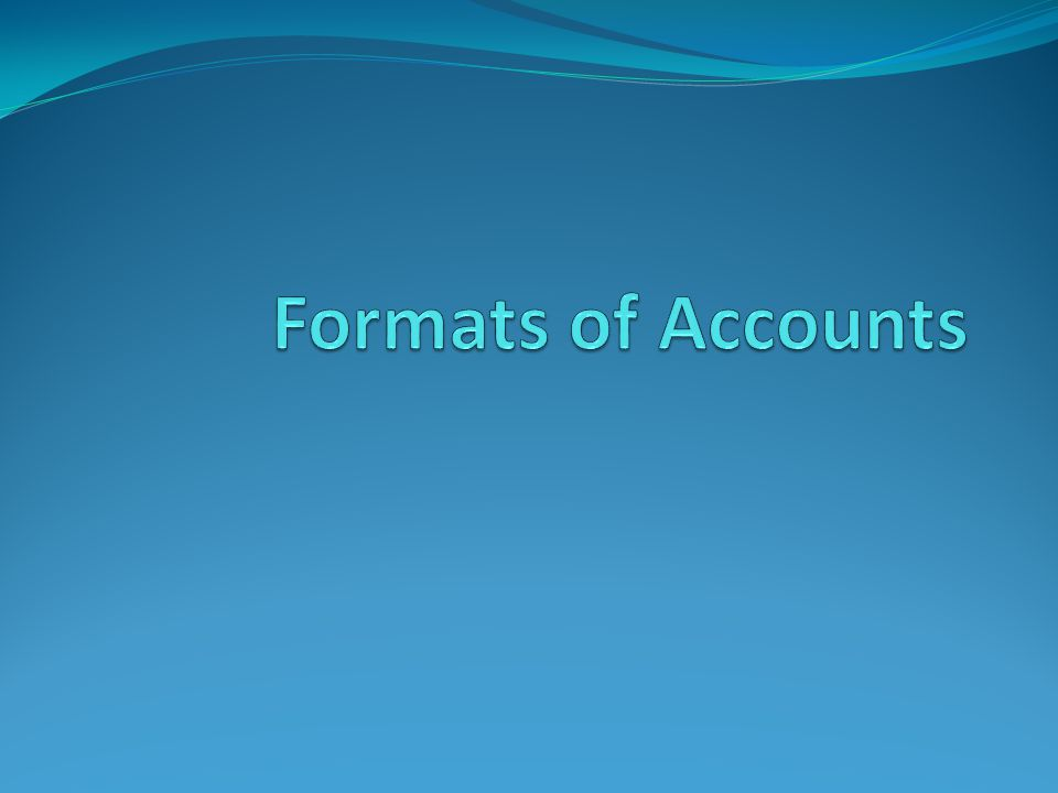 Format of Accounts of Autonomous Bodies Autonomous Bodies under Government of India are required to compile their accounts from the accounting year 2001-02 in a Uniform Format of accounts.