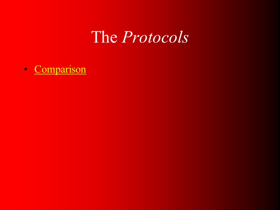 The Protocols Comparison
