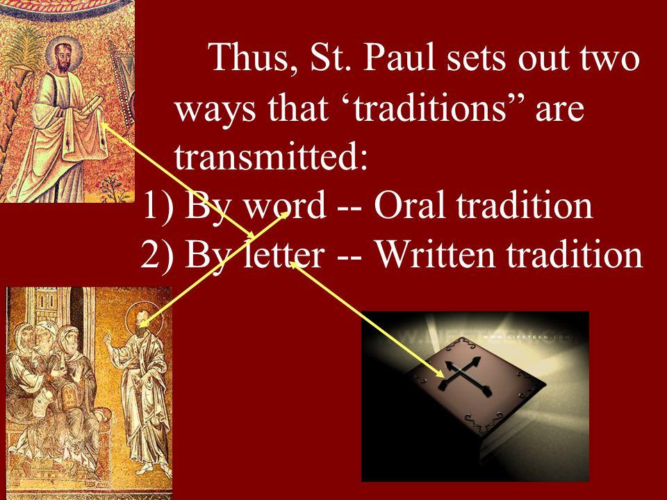 Thus, St.