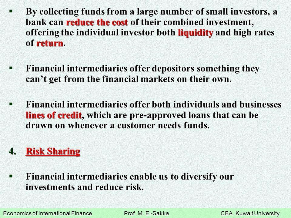 Economics of International Finance Prof.M. El-Sakka CBA.
