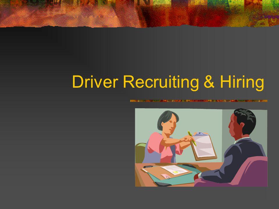 Driver Recruiting & Hiring