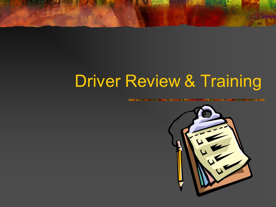 Driver Review & Training