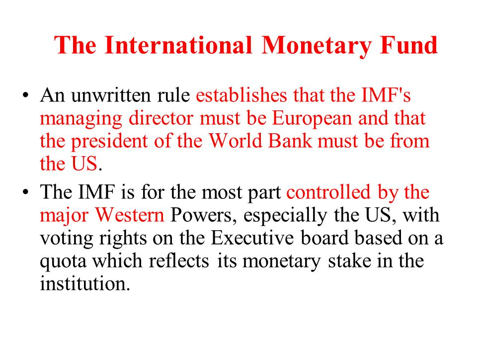The post-Bretton Wood international monetary system The desirable objectives of the international monetary system are.
