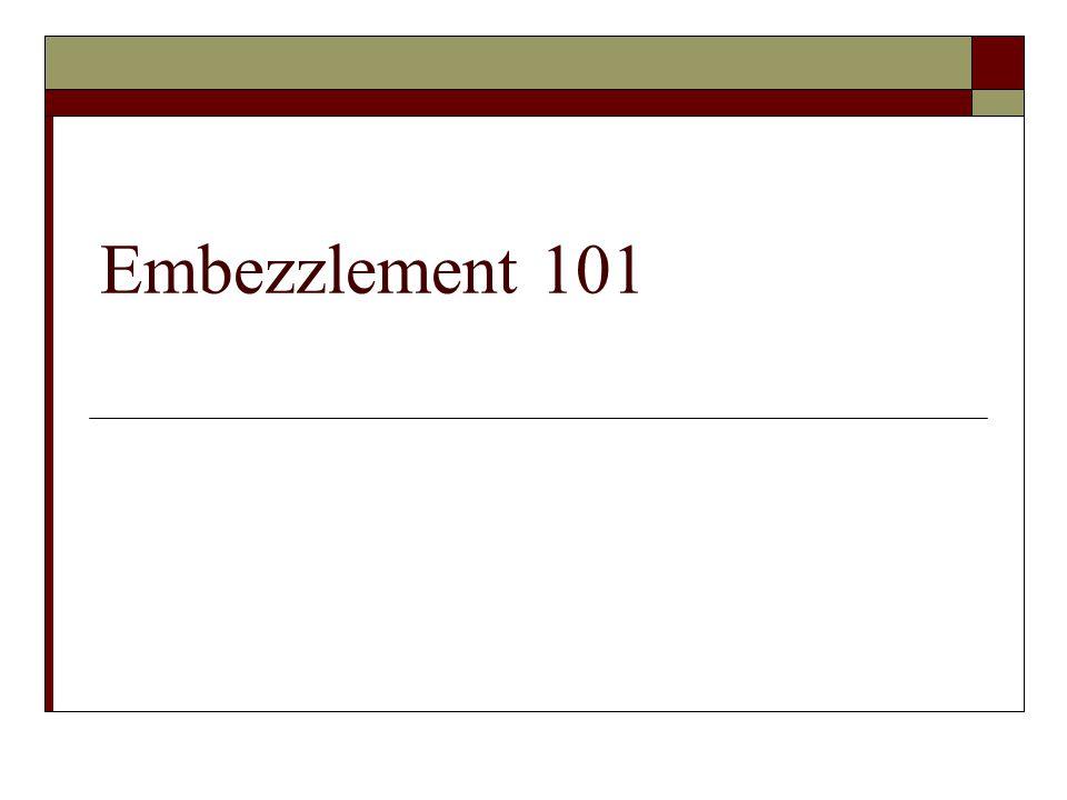 Embezzlement 101