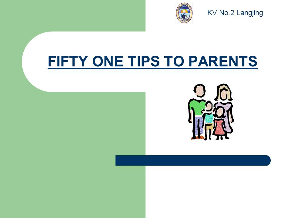FIFTY ONE TIPS TO PARENTS KV No.2 Langjing