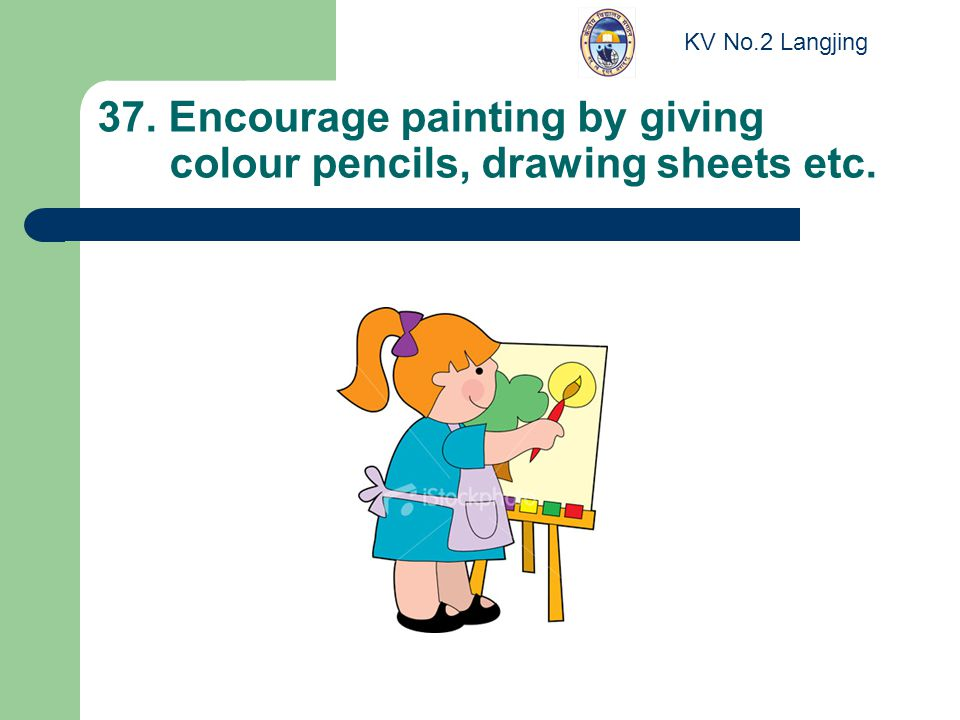 37. Encourage painting by giving colour pencils, drawing sheets etc. KV No.2 Langjing