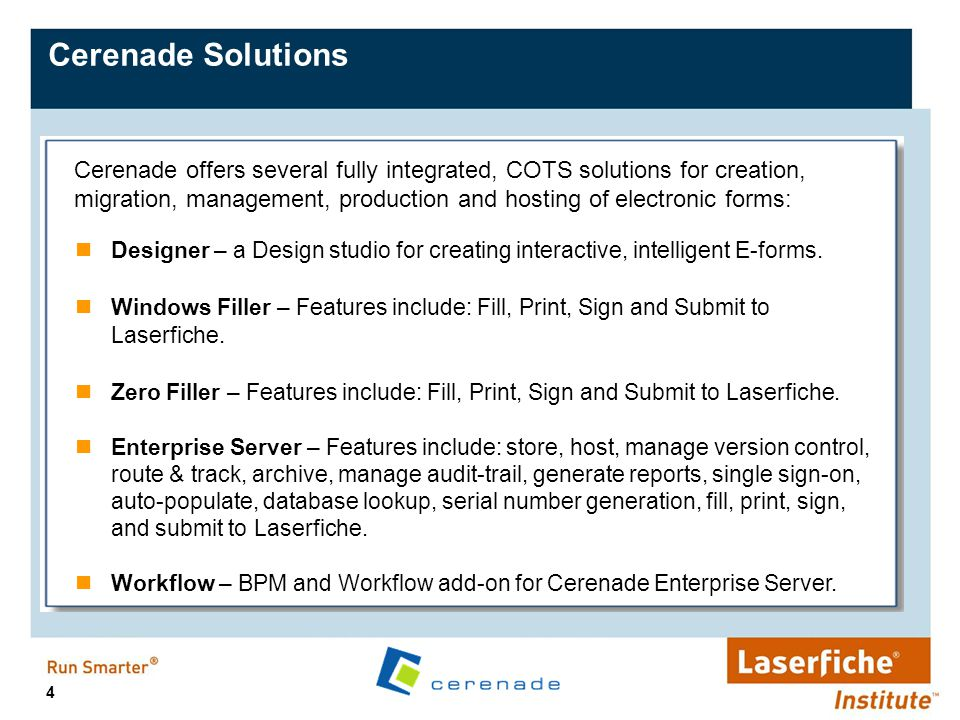 15 Web-Based: ASP.NET solution for hosting, processing, and management of electronic forms on-line or off-line.