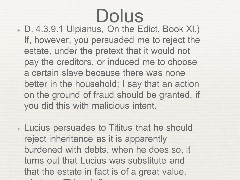 Dolus ✦ D.