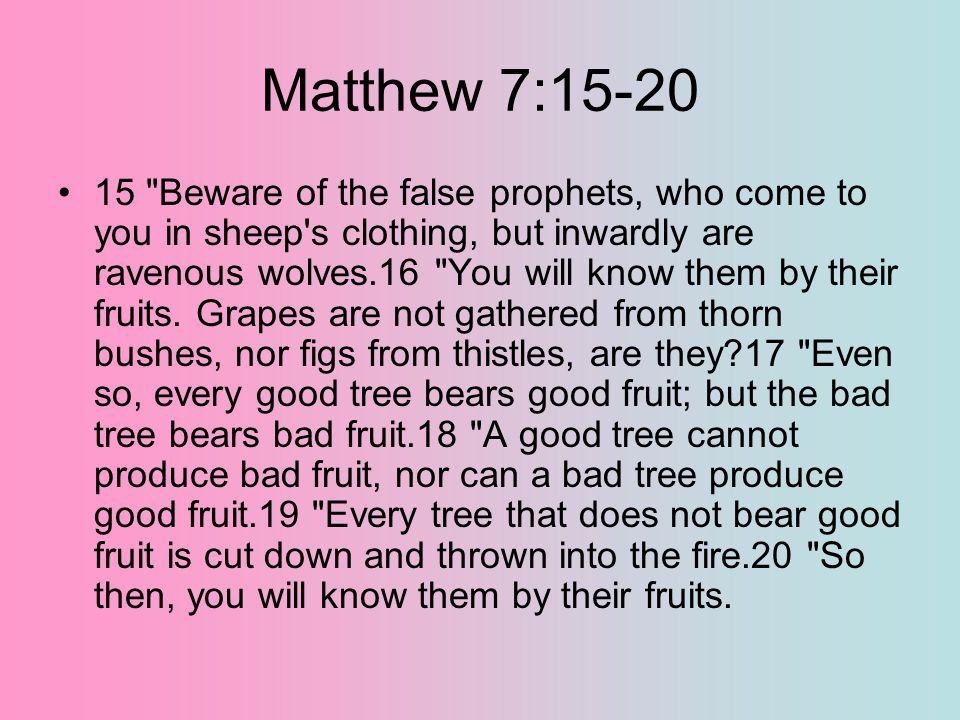 Matthew 7:15-20 15