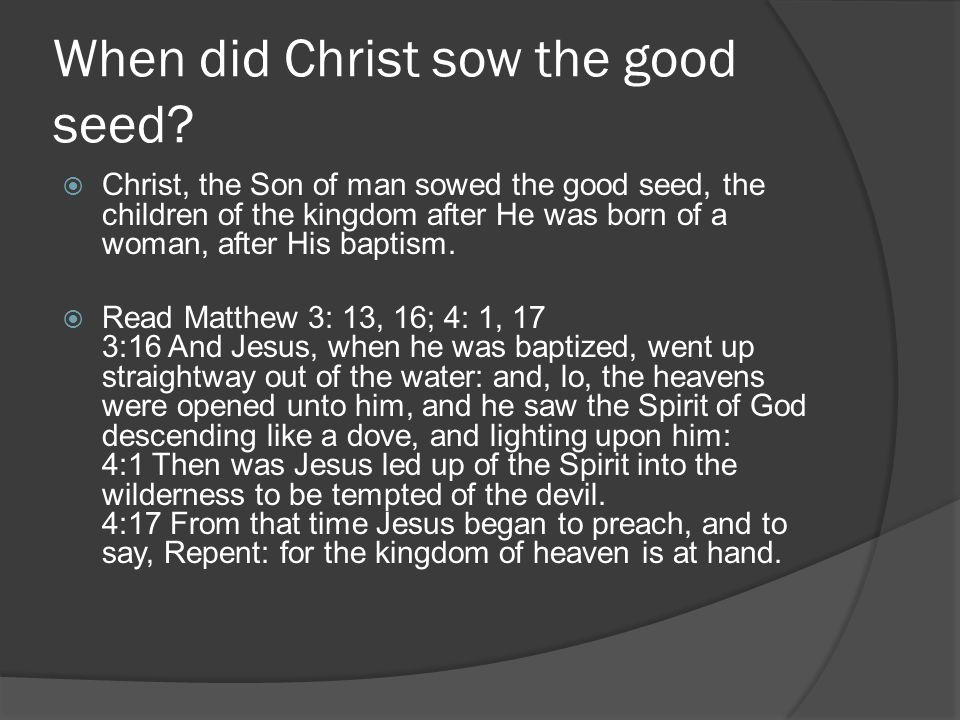 The separation in two sections, yielding two fruits  PK 725.1 - Clad in the armor of Christ s righteousness, the church is to enter upon her final conflict.