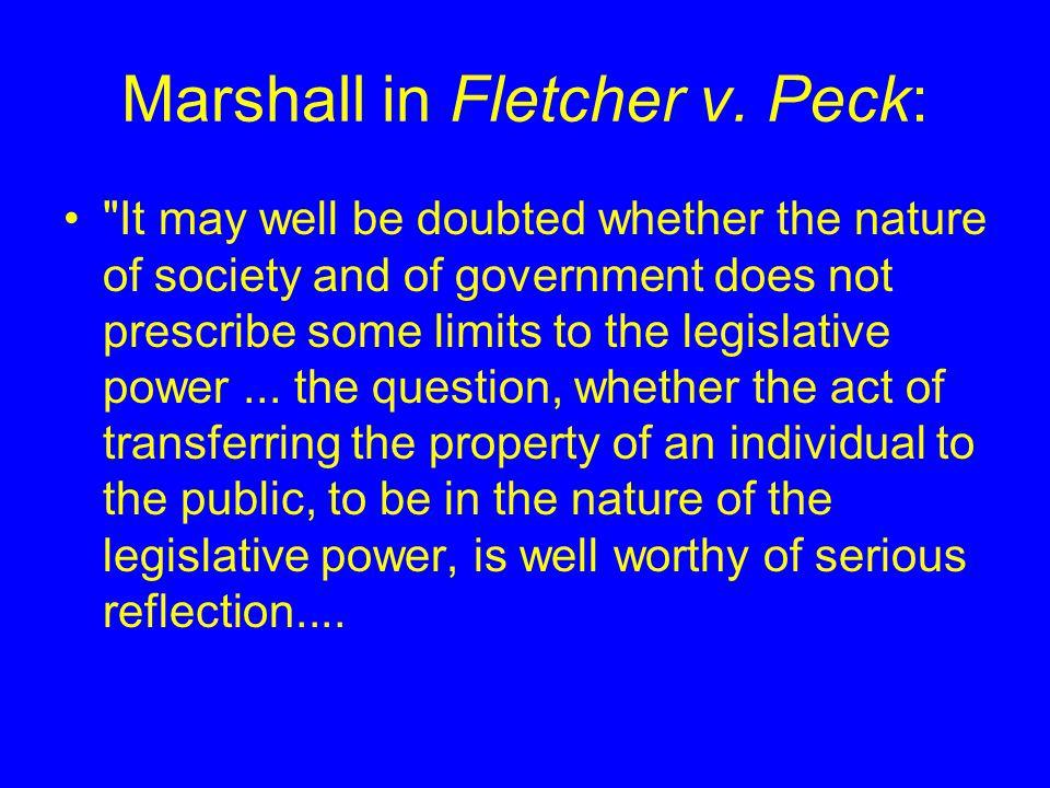 Marshall in Fletcher v. Peck: