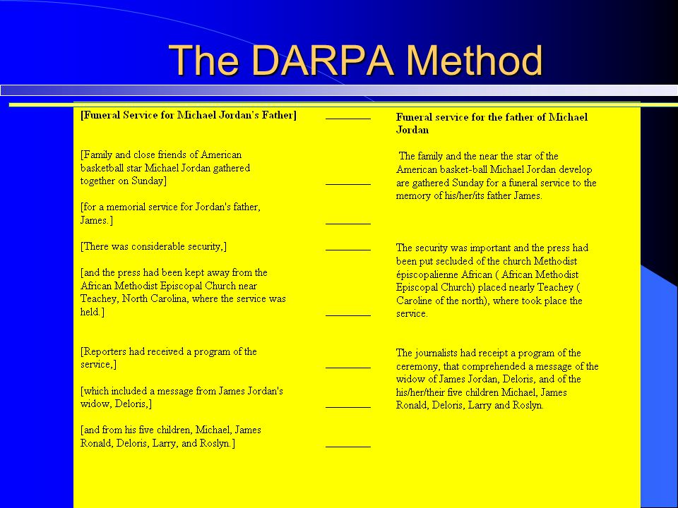 The DARPA Method