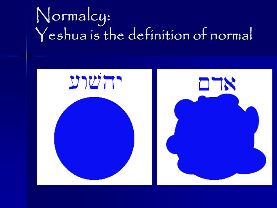 Normalcy: Yeshua is the definition of normal
