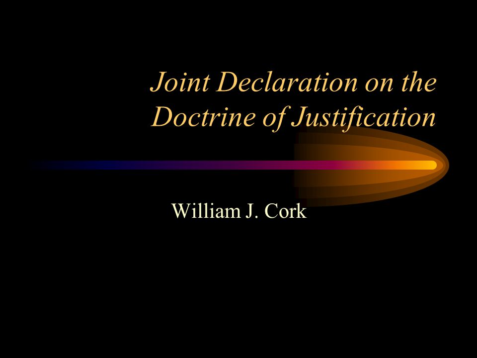 Annex 3.The doctrine of justification is measure or touchstone for the Christian faith.