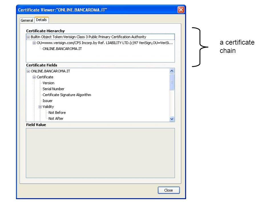 a certificate chain