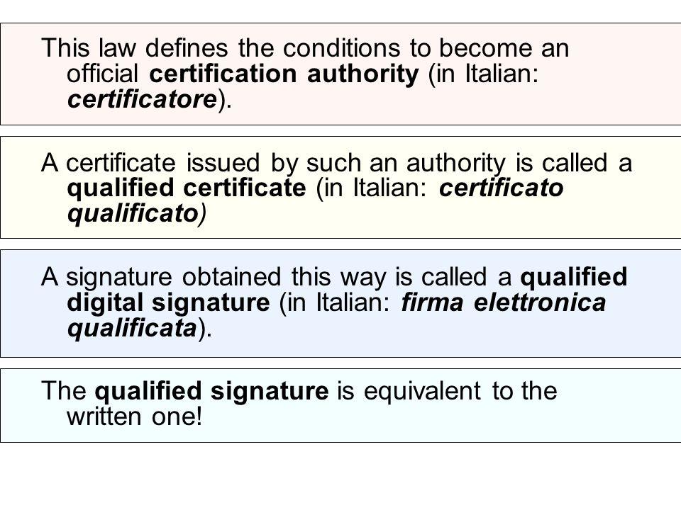 Some of the Italian Certificate Authorities: Banca Monte dei Paschi di Siena S.p.A.