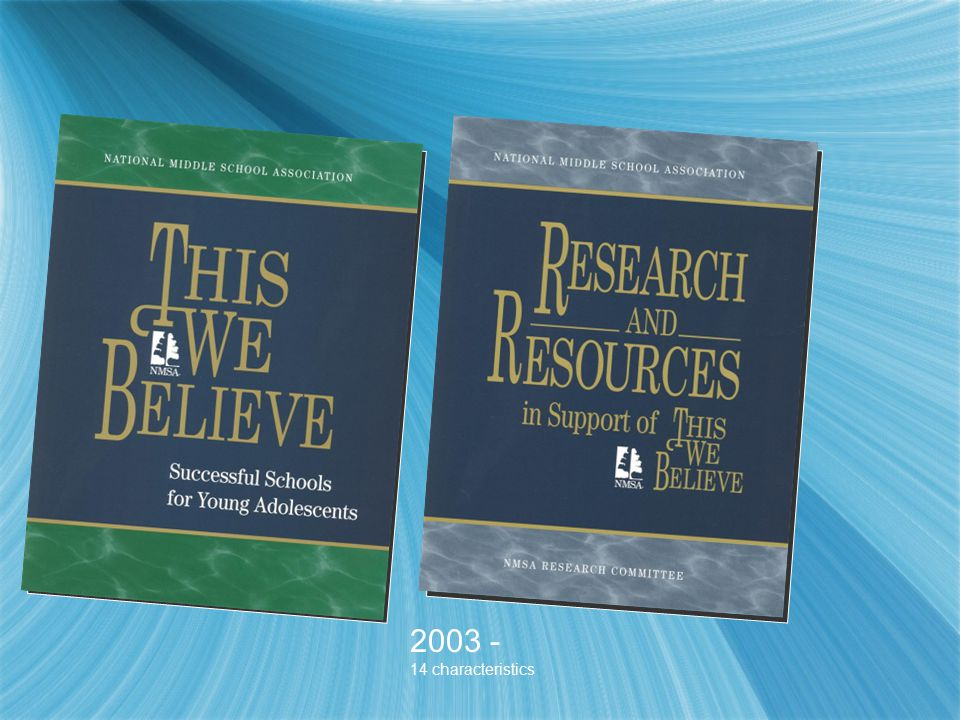 2003 - 14 characteristics