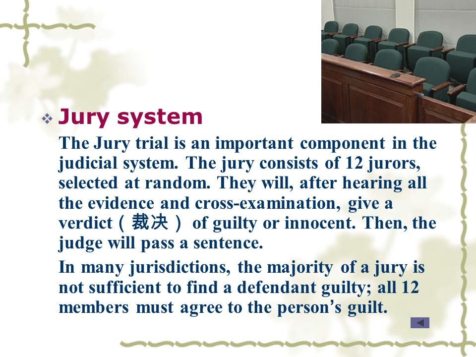 Know More  What do you now about jury system in America? What do you now about jury system in America?  What is the guiding principle in criminal co