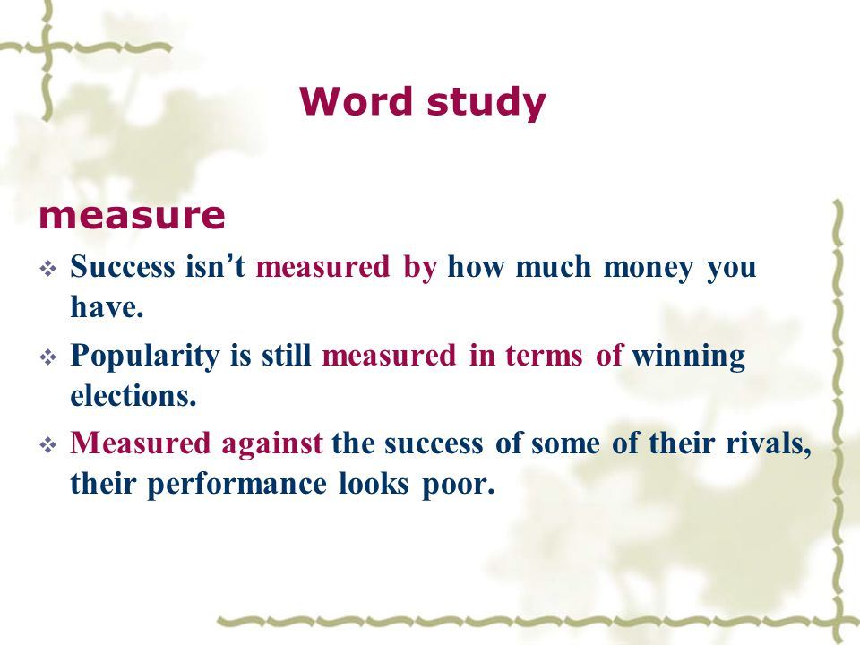 Word study  be/go easy on sb/sth.