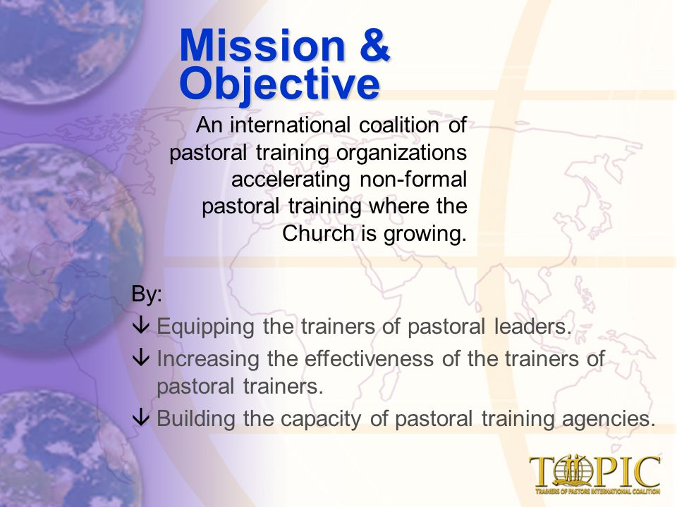 An international coalition of pastoral training organizations accelerating non-formal pastoral training where the Church is growing.