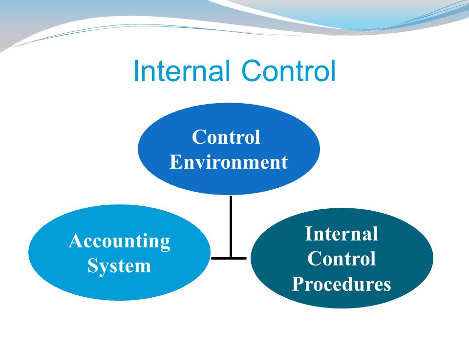 Internal Control Control Environment Accounting System Internal Control Procedures