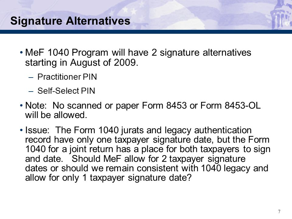 68 MeF Discussion Items 100 Submissions Paper Indicator – 8453 Transmittal Allow multiple form types to be transmitted together.