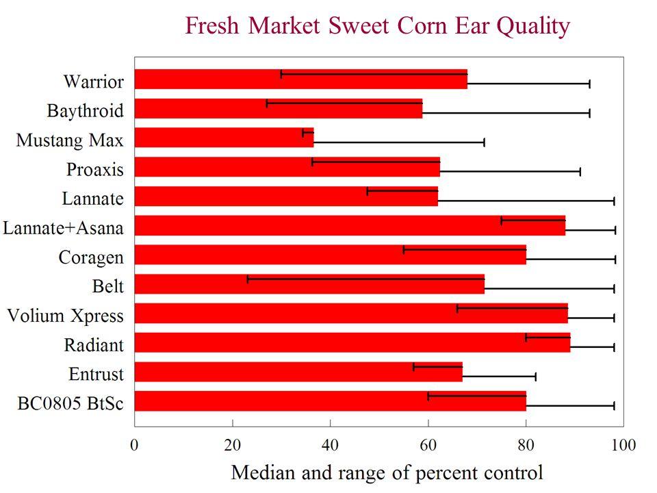 Fresh Market Sweet Corn Ear Quality