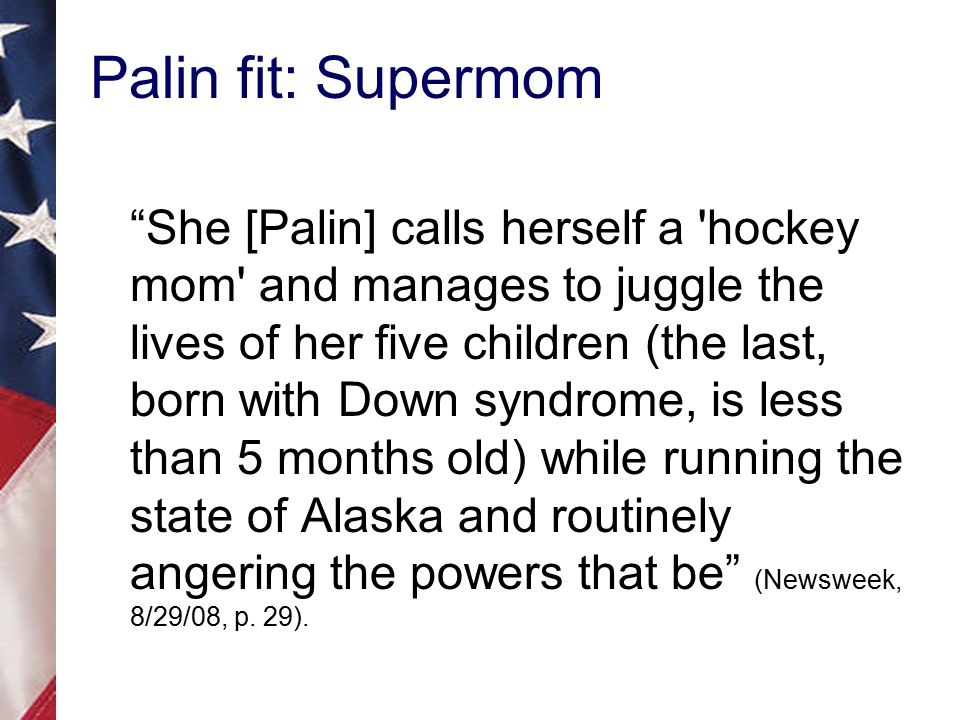 Palin fit: Supermom