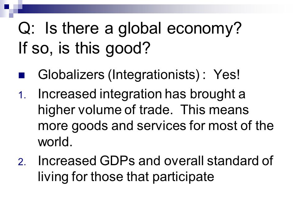 3.Globalization's impact on the environment and our future.