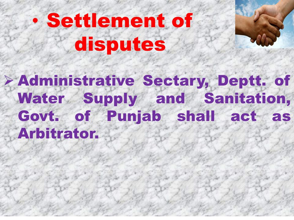  Administrative Sectary, Deptt. of Water Supply and Sanitation, Govt.